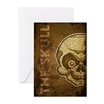 The Skull (Distressed) Greeting Cards (Pk of 10)