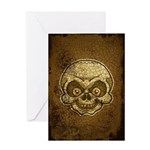 The Skull (Distressed) Greeting Card