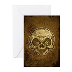 The Skull (Distressed) Greeting Cards (Pk of 20)