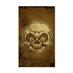 The Skull (Distressed) Sticker (Rectangle)