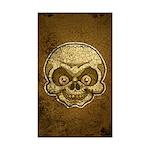 The Skull (Distressed) Sticker (Rectangle 50 pk)