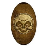 The Skull (Distressed) Sticker (Oval)