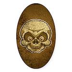 The Skull (Distressed) Sticker (Oval 10 pk)