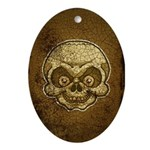 The Skull (Distressed) Ornament (Oval)