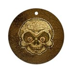 The Skull (Distressed) Ornament (Round)