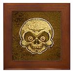 The Skull (Distressed) Framed Tile