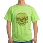 The Skull (Distressed) Green T-Shirt
