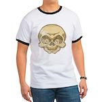 The Skull (Distressed) Ringer T