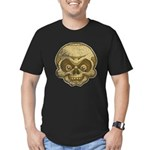 The Skull (Distressed) Men's Fitted T-Shirt (dark)