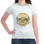 The Skull (Distressed) Jr. Ringer T-Shirt