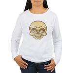 The Skull (Distressed) Women's Long Sleeve T-Shirt