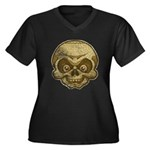 The Skull (Distressed) Women's Plus Size V-Neck Da
