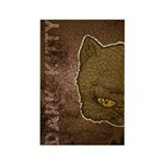 Dark Kitty (Distressed) Rectangle Magnet