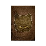 Dark Kitty (Distressed) Rectangle Magnet (100 pack