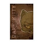 Dark Kitty (Distressed) Mini Poster Print