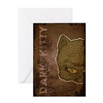 Dark Kitty (Distressed) Greeting Card