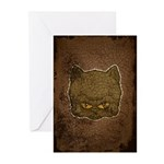 Dark Kitty (Distressed) Greeting Cards (Pk of 20)