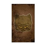 Dark Kitty (Distressed) Sticker (Rectangle 50 pk)