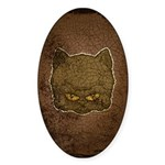 Dark Kitty (Distressed) Sticker (Oval)