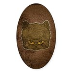 Dark Kitty (Distressed) Sticker (Oval 10 pk)
