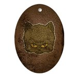 Dark Kitty (Distressed) Ornament (Oval)