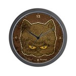 Dark Kitty (Distressed) Wall Clock