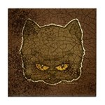 Dark Kitty (Distressed) Tile Coaster