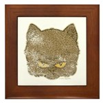 Dark Kitty (Distressed) Framed Tile