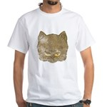 Dark Kitty (Distressed) White T-Shirt