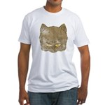 Dark Kitty (Distressed) Fitted T-Shirt