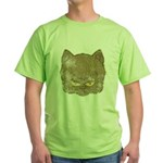 Dark Kitty (Distressed) Green T-Shirt