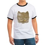Dark Kitty (Distressed) Ringer T