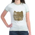 Dark Kitty (Distressed) Jr. Ringer T-Shirt