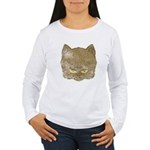 Dark Kitty (Distressed) Women's Long Sleeve T-Shir