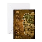Mr. Cyclops Twobrow (Distressed) Greeting Card