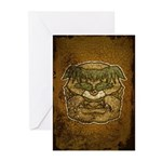 Mr. Cyclops Twobrow (Distressed) Greeting Cards (P