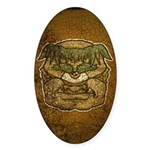 Mr. Cyclops Twobrow (Distressed) Sticker (Oval 10