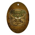Mr. Cyclops Twobrow (Distressed) Ornament (Oval)