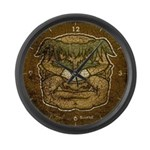 Mr. Cyclops Twobrow (Distressed) Large Wall Clock