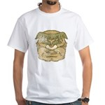 Mr. Cyclops Twobrow (Distressed) White T-Shirt