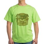 Mr. Cyclops Twobrow (Distressed) Green T-Shirt