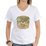 Mr. Cyclops Twobrow (Distressed) Women's V-Neck T-