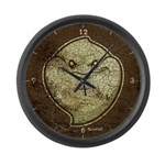 The Ghost (Distressed) Large Wall Clock