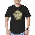 The Ghost (Distressed) Men's Fitted T-Shirt (dark)