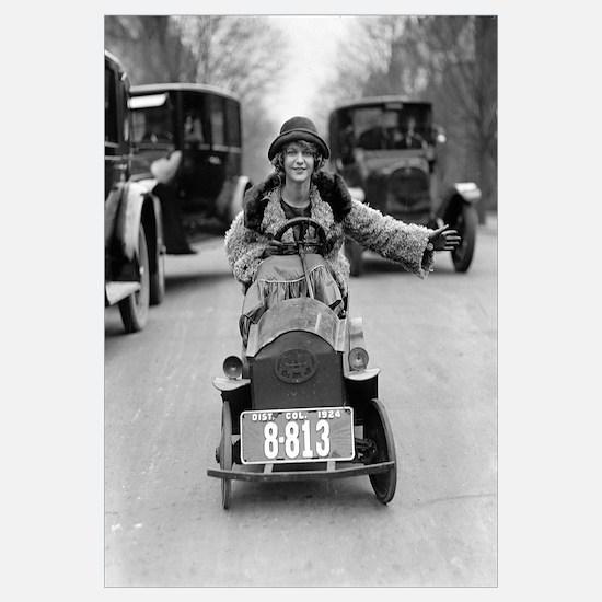 Flapper Driving Pedal Car, 1924