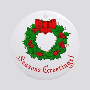 Seasons Greetings Ornament (Round)