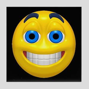 Smiling Smiley Face Tile Coaster