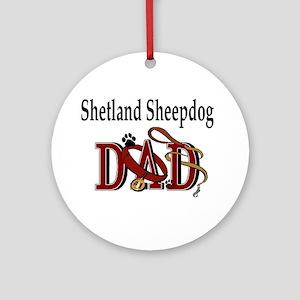 Shetland Sheepdog Dad Ornament (Round)