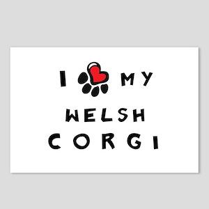 I *heart* My Corgi Postcards (Package of 8)