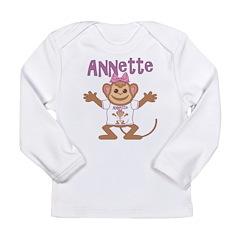 Little Monkey Annette Long Sleeve Infant T-Shirt